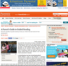 A Parent's Guide to Guided Reading on Scholastic.com
